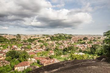 Keuken foto achterwand Zalm A view of Abeokuta city from Olumo Rock, south west of Nigeria