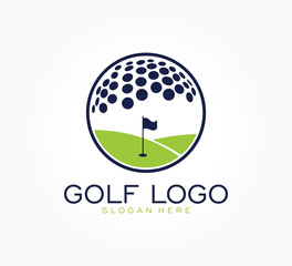 golf flag tournament logo template