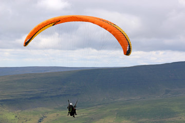 Wall Mural - Tandem Paraglider in the Brecon Beacons, Wales