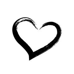Black heart hand drawn illustration