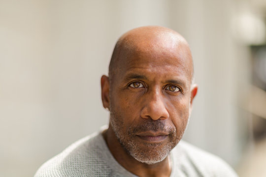 African American man with a concerned look.