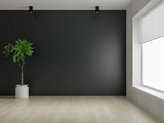Interior empty room 3D rendering