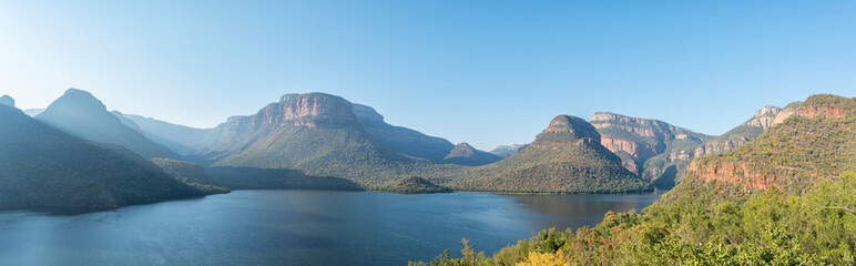 Panorama of Blyderivierspoort Dam and the Blyde River Canyon