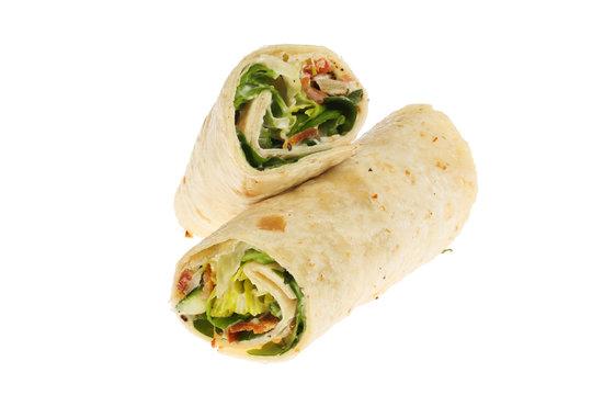 Sandwich wraps isolated