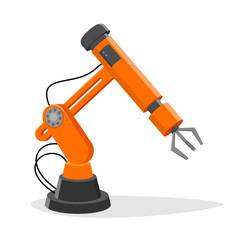 vector illustration of an industrial robot