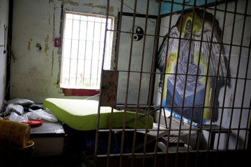 A view shows an empty cell in Topo Chico prison during a closing ceremony in Monterrey