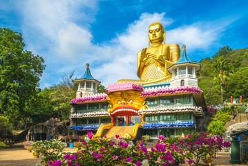 In de dag Bedehuis buddha museum of dambulla golden temple, sri lanka
