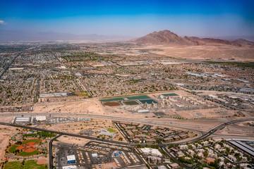 Poster Las Vegas Aerial view of the Las Vegas cityscape