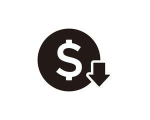 Cost reduction icon symbol vector