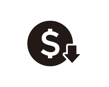 Cost reduction icon symbol vector