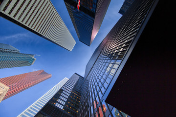 Photo sur Plexiglas Toronto Scenic Toronto financial district skyline and modern architecture