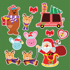 Cute Christmas icon for Sticker Patches