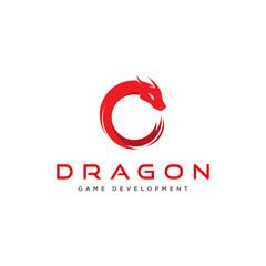 elegant dragon concept for the game logo
