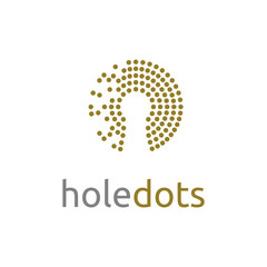 Keyhole with dots pattern logo design