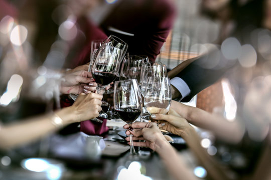 food and Drink, wine red and for a friendly, in a bar or a restaurant