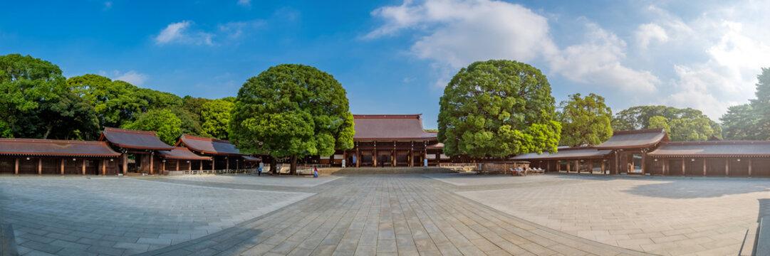 Scenic view at  Meji Jingu or Meji Shrine area in Tokyo, Japan.