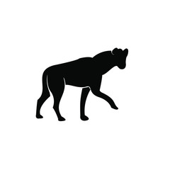 Photo Stands Panther hyena logo icon silhouette vector