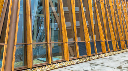 Detail of modern sustainable public building