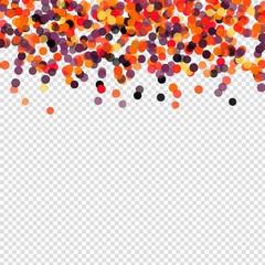 Confetti polka dot Halloween background. Orange black and
