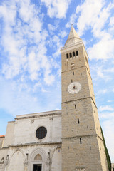 Medieval cathedral and market square of Koper, Slovenia