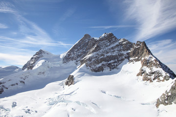 Jungfrau mountain range, landmark in Switzerland