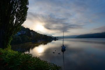 lake millstätter see, carinthia, austria
