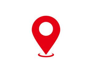 Pin map icon symbol vector