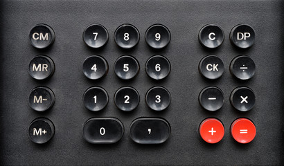 Old calculator keypad