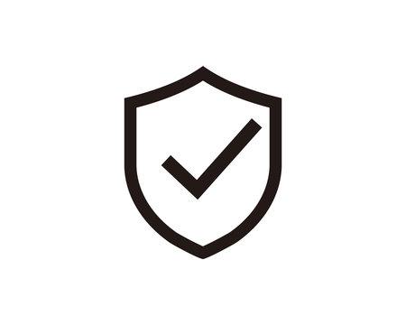 Shield check mark icon symbol vector