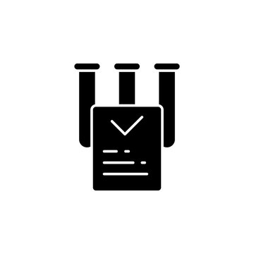 Marijuana, laboratory, report icon. Simple glyph, flat vector of marijuana icons for ui and ux, website or mobile application
