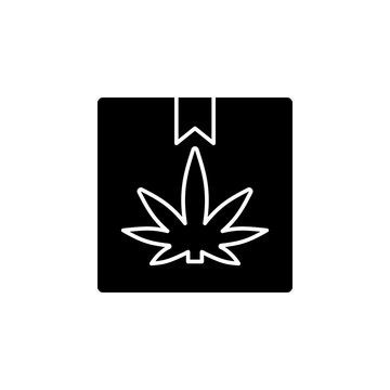 Marijuana, packaging icon. Simple glyph, flat vector of marijuana icons for ui and ux, website or mobile application