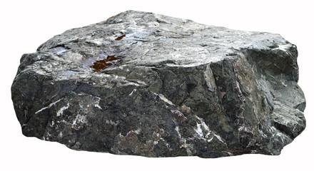 Fototapeta Set of stones white background. Clipping Path obraz