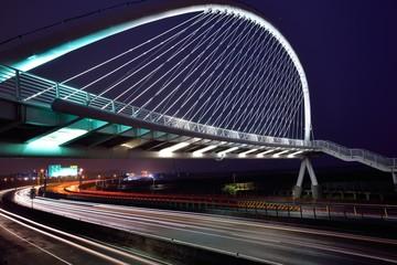 Harp Bridge in Hsinchu Xiangshan, Taiwan.