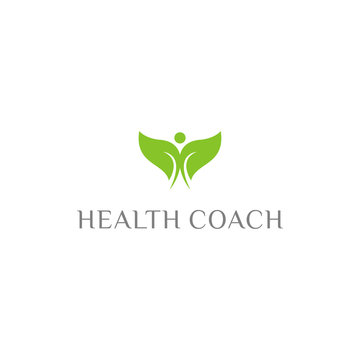 Fitness and Health coach logo design - Vector