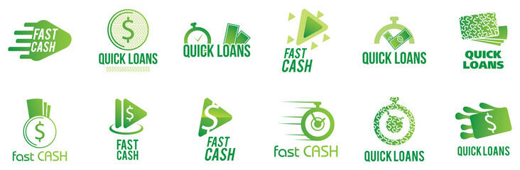 Vector logo of the company loans and quick loans
