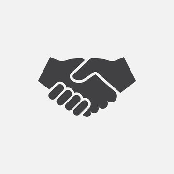 hand shake icon logo design, hand shake illustration, agreement icon