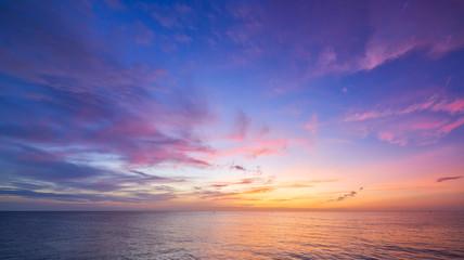 panorama sunset skyline seascape twilihgt cloudscape