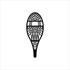 Traditional Snowshoes Icon, Winter Snow Equipment