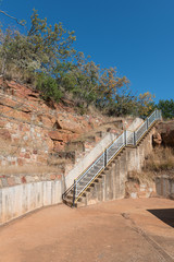 Stairs leading to and from the Blyderivierspoort Dam wall