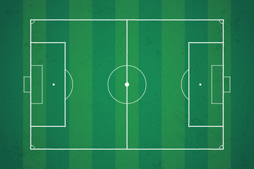 Football pitch - soccer field top view vector illustration