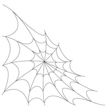 Halloween spider web corner background vector