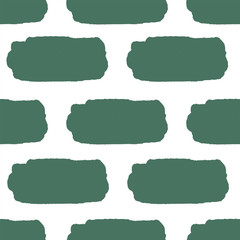 Abstract irregular striped block motif. Vector illustration. Dark background with minimalistic elements. Striped texture seamless pattern. Grunge endless template. Green and white colour backdrop.