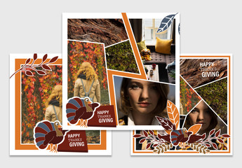 Thanksgiving Social Media Layout Set