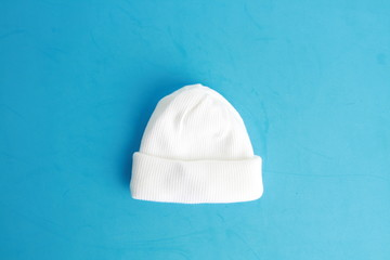 white wool hat for baby