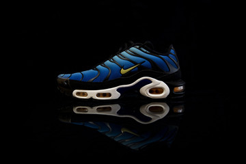 Nike Air Max TN Hyperblue shoes studio portrait
