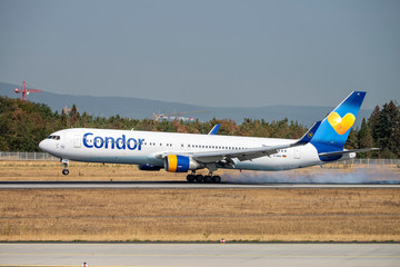 Airplane of Condor at the landing