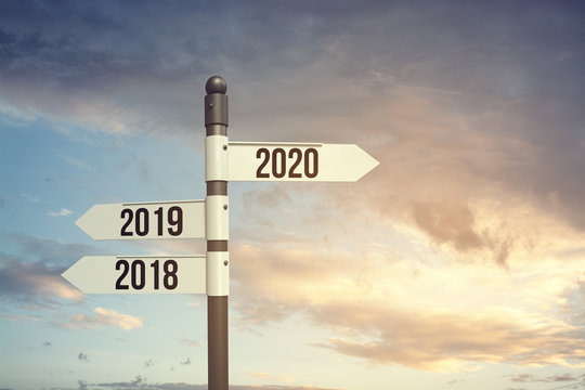 2020 new start, new hope, new beginning with new year