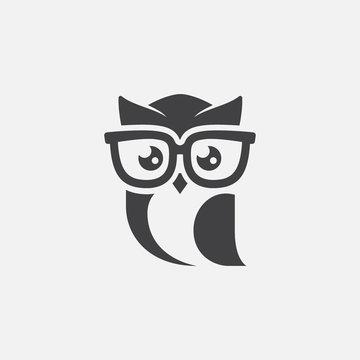 owl logo tempalte, owl sunglasses logo design, owl mascot design, owl character design vector