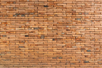 brick walls that are not plastered background and texture. The texture of the brick is orange....