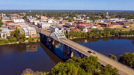 River Bridge into Historic Selma Alabama in Dallas County